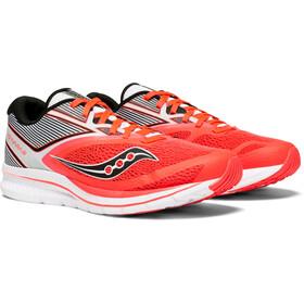 saucony Kinvara 9 Shoes Women Vizipro Red/White
